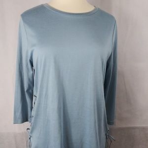Large light blue top